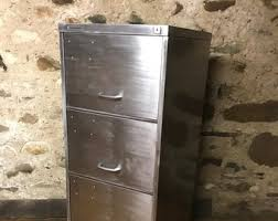 vine industrial stripped metal 4 drawer filing cabinet holds foolscap files