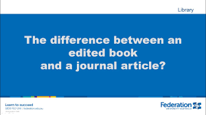 The Difference Between An Edited Book And A Journal Article Apa