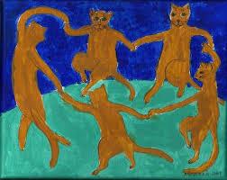 art the cat ala matisse by artist nancy denommee