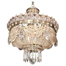 crystal basket chandelier vintage crystal basket chandelier