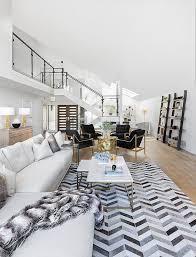 white and gray herringbone cowhide rug