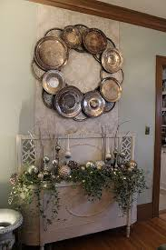 Decorating With Silver Trays Silver platter wreath Decorating Pinterest Wreaths Silver 40