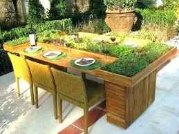 herb garden stand by tablet table plans