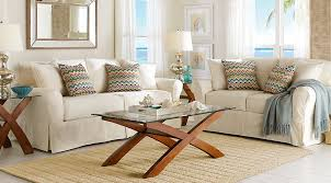 blue and white furniture. Cindy Crawford Living Room Set White Sofa Set With Blue, Orange And White  Printed Pillows, Glass-top End Blue Furniture A