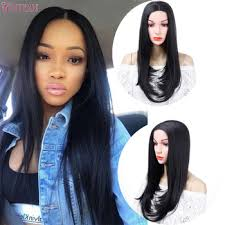 "22"" Long Straight Hig Temperature Synthetic Fiber Hair Wig Brown ..."