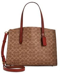 COACH Signature Charlie Medium Satchel - Handbags   Accessories - Macy s