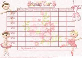 Gold Star Sticker Chart Beautiful Ballerina Childs Reward Chart Gold Star