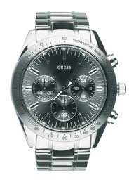 buy guess men chase steel watch watches for men myntra