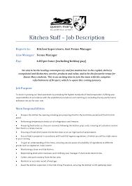 Cook Job Description Resume Cook Job Description For Resume Resume Badak 23