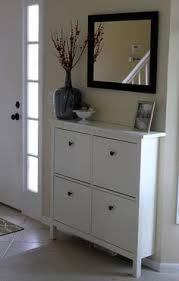 Hemnes Coat Rack HEMNES shoe cabinet from IKEA with mirror over it Place on Post 71