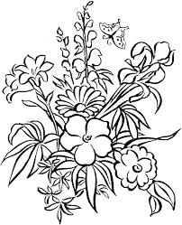 Colouring Pages Flowers Printable L L L L L