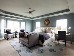 Marvelous Grand Master Bedroom Tray Ceiling Accented Modern