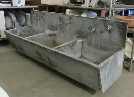 triple basin soapstone sink