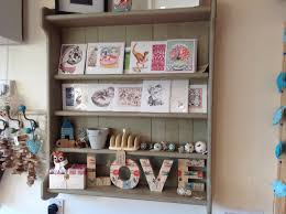 shabby chic country wall shelves