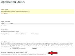 freshman application process honors arizona edu screenshot of ua future application status page