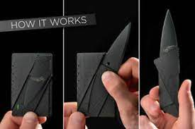 Credit cards are regularly used for buying stuff you don't need by most of the people out there, but. Credit Card Thin Folding Wallet Knife For Outdoors Self Defense Ebay