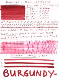 Diamine Red Dragon Ink Review Giveaway Pen Chalet