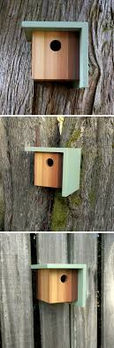 This Blue Light And Dark Wood Birdhouse Is Inspired By Craftsman  Architecture.