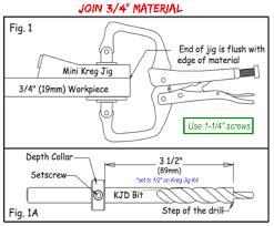 Kreg Jig Different Thickness Use Kreg Jig Mini To Join 3 4 Boards Woodworking Pinterest