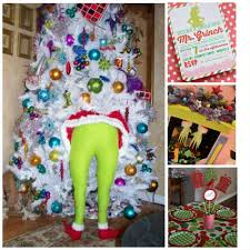 the back of a who house acme merry grinchmas party front door decorations at merry whoville