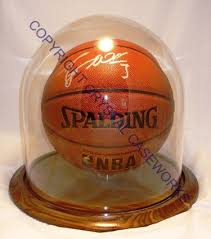 basketball glass display case dome