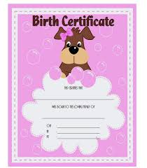 dog birth certificates pet birth certificate template 1 the best template collection