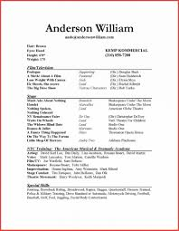 Acting Resume Template 2016 Memo Example Beginning Sample For