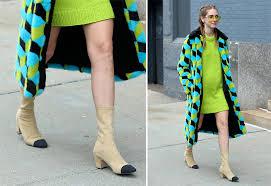 chanel glitter boots. chiara-ferragni-chanel-stretch-boots chanel glitter boots d