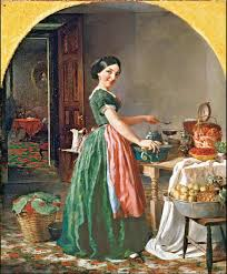 paintings of kitchens in western art