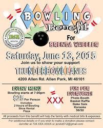 Flyers For Fundraising Events Bowling Benefit Flyer Cancer Flyer Designs Custom Flyer Design