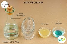 how to use vinegar bathtub cleaner distilled white vinegar 4 tablespoons
