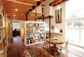 home office bookshelves. Bookcase For Home Office Room Divider Rustic With Bookshelves Ceiling Image By . I