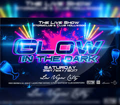 glow flyer glow in the dark party flyer i for your awesome parties