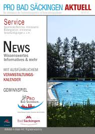 Pro Bad Säckingen aktuell by Tourismus GmbH Bad Säckingen - issuu