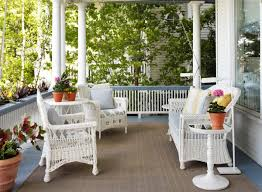 fascinating wicker sunroom furniture sets lighting creative with wicker armchairs on cottage deck jpg ideas