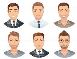 男性のための別の髪型 あごヒゲのベクターアート素材や画像を多数ご