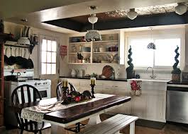 white country kitchen with butcher block. Fine Country Inside White Country Kitchen With Butcher Block T