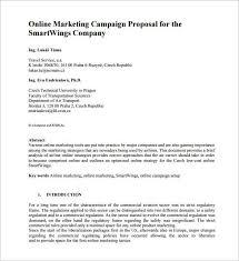 Digital Marketing Proposal Inspirational Sample Proposal For