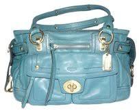 Coach Legacy Hampton Lindsay Shopper Tote Handbag Teal Aqua Turquoise Blue  Leather Satchel - Tradesy