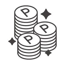 光っているポイントコインのアイコン素材 無料のアイコンイラスト集