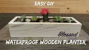 diy waterproof wood planter
