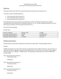 Example Statement Of Work Insert Your Cfa Number And