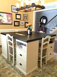 Craft Table Storage Ideas Crafting And Homework Station Instead Of A Formal  Dining Room That Never Gets ...
