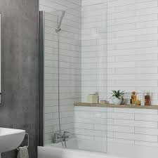 square overbath shower screens