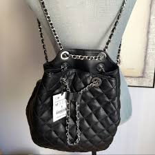 Zara Black Chain Backpack | Zara black, Black quilt and Backpacks & Zara Black Chain Backpack Adamdwight.com