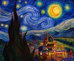 painting of vincent van gogh moon