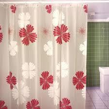 printing shower curtains modern friendly shower curtain red flower printed matte waterproof curtains bathroom s in printing shower curtains