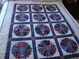 Memorial quilt made from men's ties & 🔎zoom Adamdwight.com