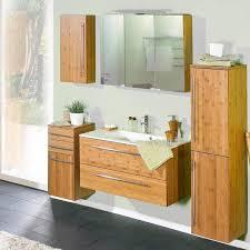Badezimmermöbel Set Bambus Massiv Lackiert Hanoi 04 Waschtisch Mit Min