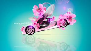 citroen gt fantasy flowers fly